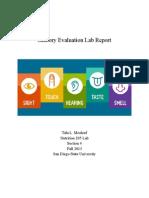 Sensory Evaluation Lab Report