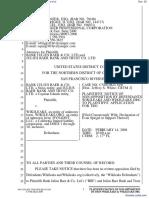 Bank Julius Baer & Co. Ltd. et al v. Wikileaks et al - Document No. 33