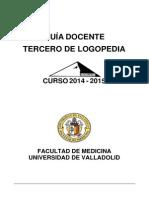 Logopedia - Guia 3 2014-2015