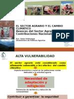 EL SECTOR AGRARIO Y EL CAMBIO CLIMÁTICO