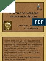 Sindrome de Fragilidad e Incontinencia Urinaria