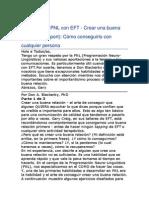 Combinando PNL Con EFT