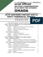 Acte Uniforme Portant Sur Le Droit Commercial Gnral Adopt Le 15 Dcembre 2010 Lom