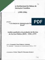 A Evolucao Da Administracao Publica No Brasil
