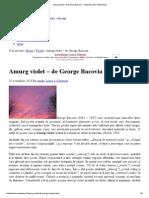 Amurg Violet–George Bacovia