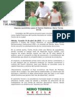 14-04-2015 Impulso económico para el Centro Histórico- Nerio Torres Arcila