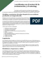 Prevención de Accidentes en El Sector de La Hostelería, La Restauración y El Catering (HORECA) — Seguridad y Salud en El Trabajo - EU-OSHA