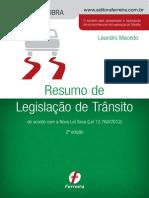 Resumo Legislacao Transito 2ed