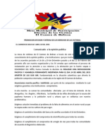 Comunicado MOVILIZACION PACIFICA Y ASAMBLEA PERMANENTE