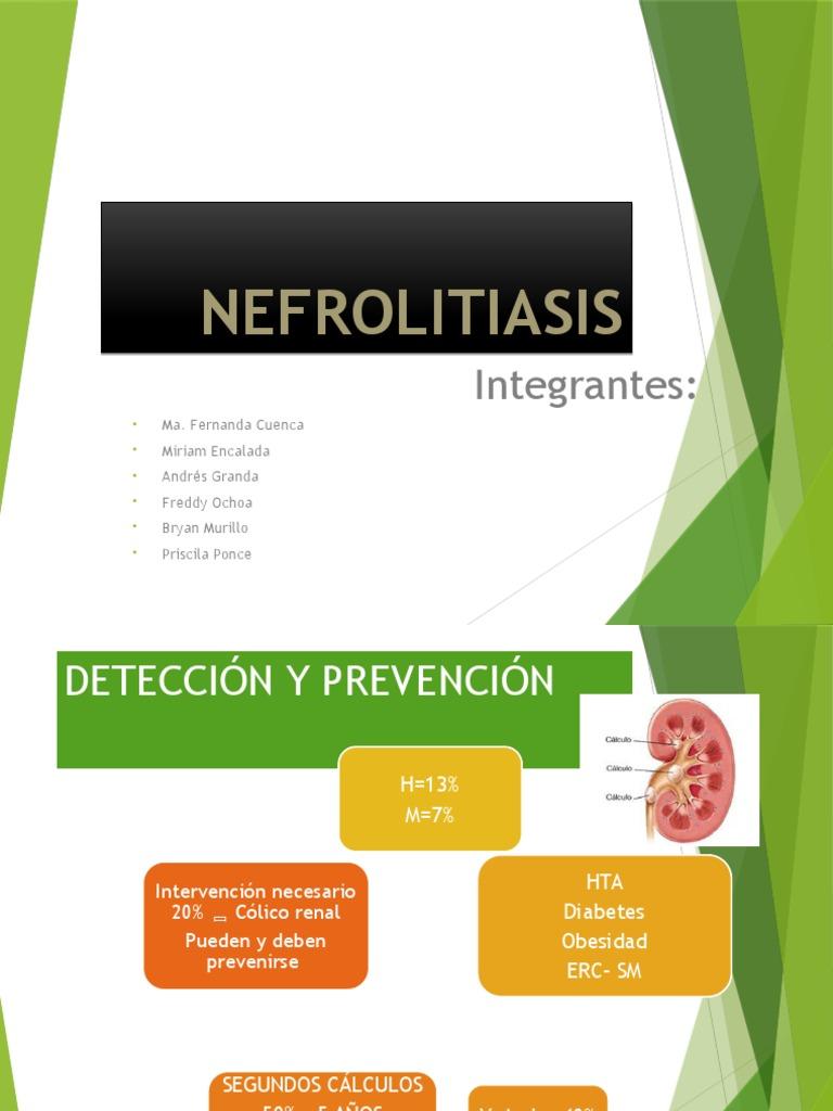 litiasis renal prevención de diabetes