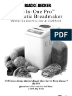 Black and decker  All in one  Breadmachine manual