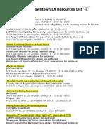 2015 DTLA Resources List