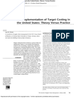 target costing in usa