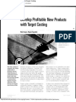 profitable with target costing