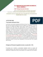Preguntas y Respuestas de Examen de Derecho Penal General 1