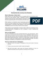 Anthony Williams' Municipal Bank Proposal