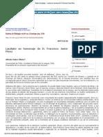 Boletín de filología - Laudatio en homenaje de D