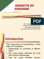 social aspects of interlanguage