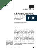 As redes sociais na internet e suas apropriações por jovens brasileiros e portugueses em idade escolar