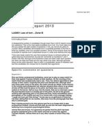 Tort Report 2013 B
