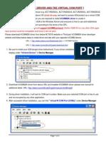 Manual VirtualCOMport IrCOMM2Kdriver