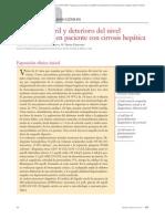 01.072 Caso Clínico. Síndrome Febril y Deterioro Del Nivel de Conciencia en Paciente Con Cirrosis Hepática