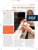 Principles of Successful Practising for PP