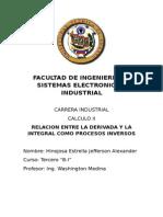 Calculo II Relacion de La Derivada y La Integral