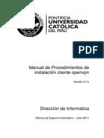 Manual de Procedimientos de Instalacion Cliente Openvpn - V0[1].1e