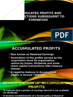 Accumulated Profits