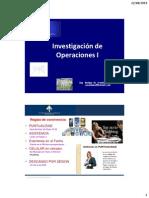INVESTIGACION DE OPERACIONES-PROGRAMACION LINEAL