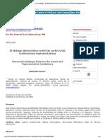 Revista mexicana de sociología - El diálogo democrático entre las cortes y las instituciones representativas