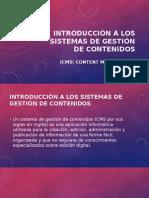 Introducción a Los Sistemas de Gestión de Contenidos