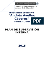 Plan de Supervisión Educativa 2015