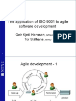 The Application of ISO 9001 to Agile Software _(Gkh Comments_)