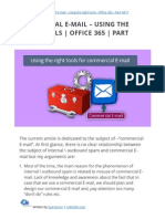 Commercial E-mail - Using the right tools   Office 365   Part 4#17