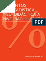 Elementos de Estadistica y Su Didactica a Nivel Bachillerato Baja