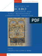Rhetoric of Cicero in Its Medieval and Early Renaissance Commentary Tradiction