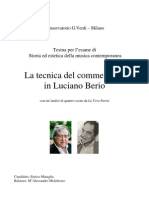 Enrico Minaglia - La Tecnica Del Commentario in Luciano Berio