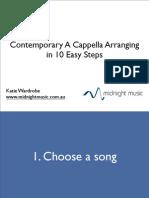Contemporary a Cappella Arranging