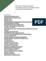 Standard Operating Procedures Pengoperasian Ambulans Di Lingkungan Dinas Kesehatan Kota Surakarta