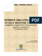 Hebrew Organization for Self Defence in Palestine (Yishuv) - Moments of Zionism IV