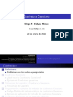 Cuadratura Gaussiana