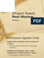 Project Post-mortem Presentation