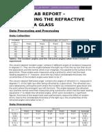 Physics Lab Report - Refractive Index