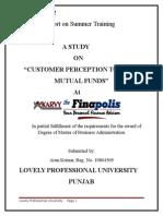 Customer Perception Towards MF