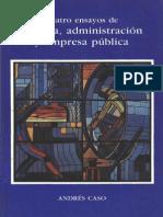 Cuatro Ensayos de Poltica Administracion y Empresa PUBLICA