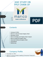 Marico Supply Chain
