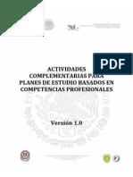 Actividades Complementarias Aprobadas (2014)