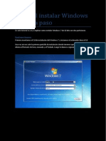 Tutorial Instalar Windows 7 Paso a Paso
